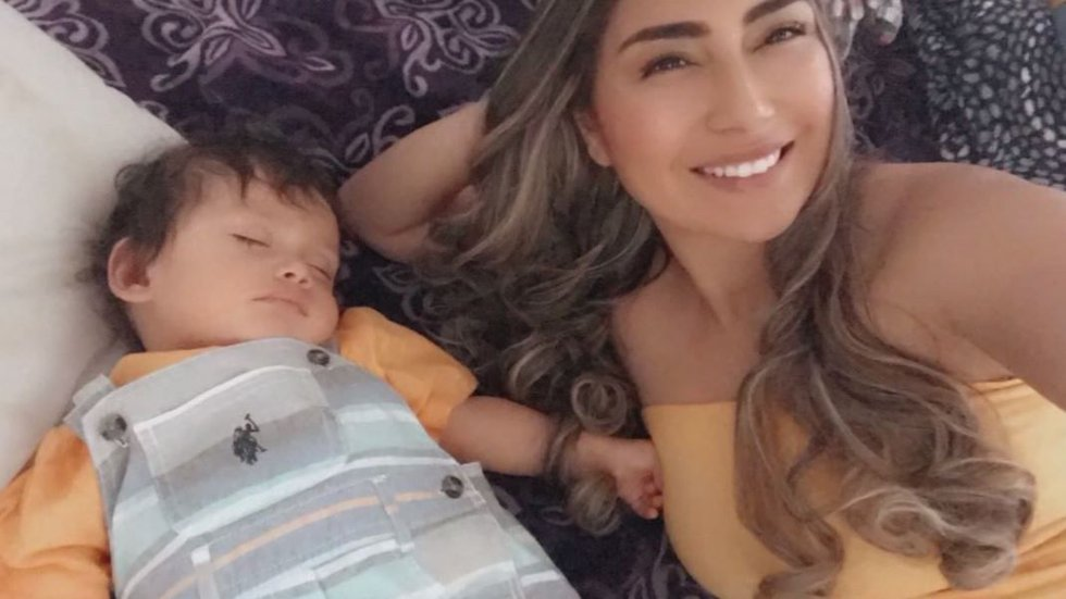 Mother Mireya Mora is hopeful her 1-year-old son won't catch COVID-19 following the incident,...