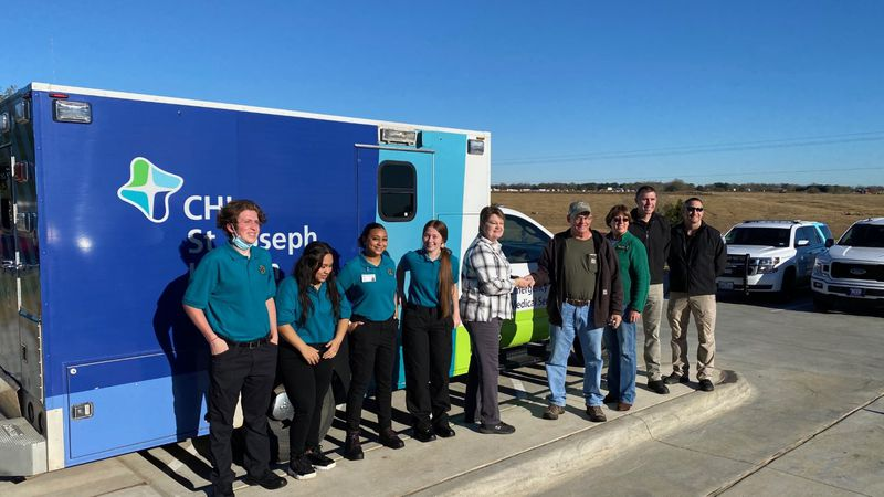 Students in medical classes have an ambulance to learn skills in.
