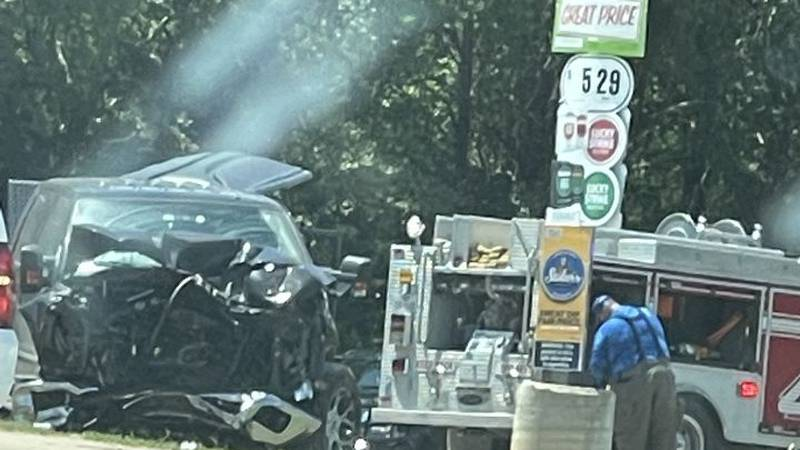 Two flown to hospital in two vehicle crash in Robertson County