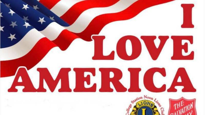College Station Noon Lions Club is hosting the I Love America celebration July 3 at Wolf Pen...