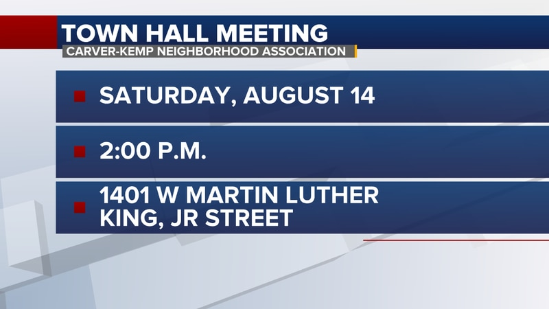 The meeting is being hosted by the Carver-Kemp Neighborhood Association