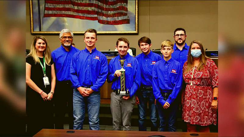 Bryan ISD students win first place at robotics competition