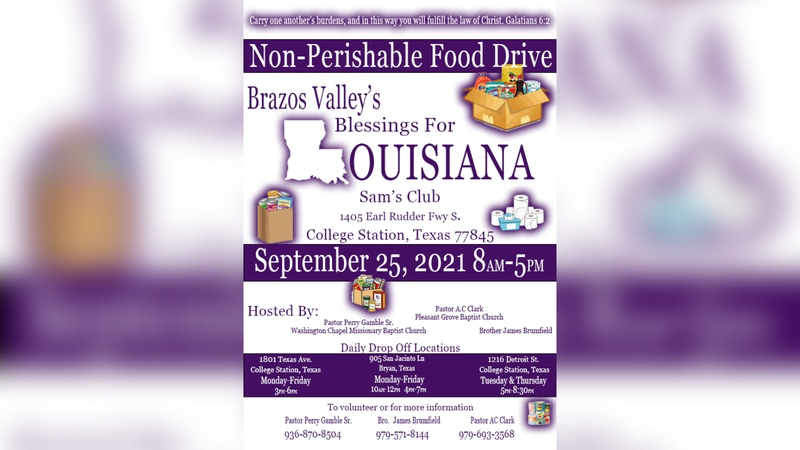 Brazos Valley's Blessings for Louisiana