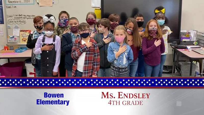 Daily Pledge - Bowen Elementary - Ms. Endsley's Class