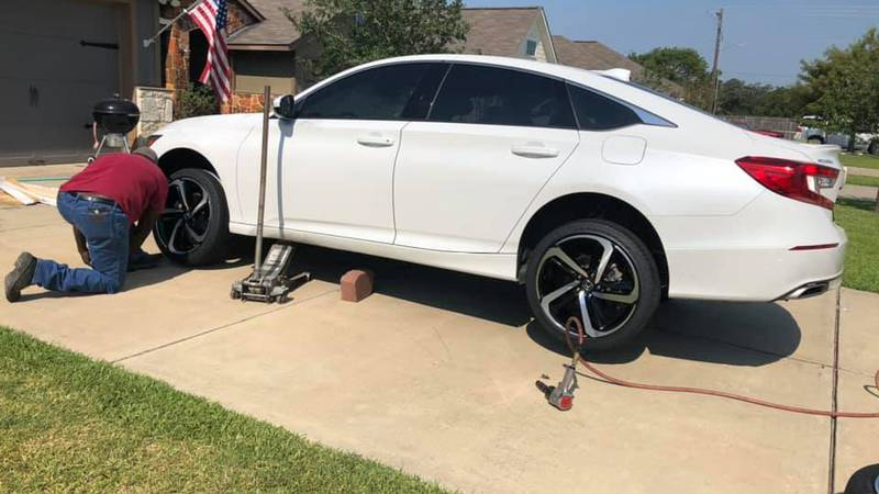 A Bryan family had their tires and rims stolen from their Honda Accord. Thursday morning they...