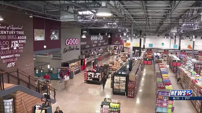 Aggie themed grocery store opening Tuesday in College Station