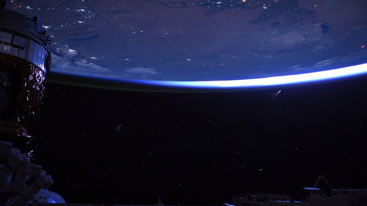 NASA's Bob Behnken shared a spectacular photo of the comet on social media late Thursday,...