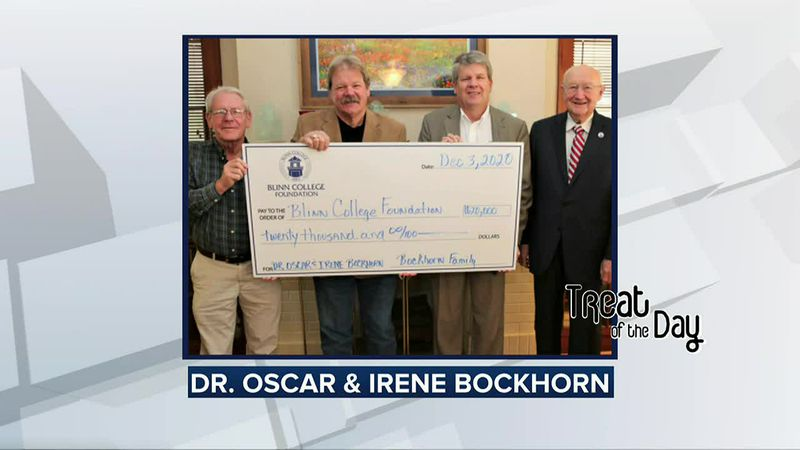 Treat of the Day: Buckhorn family presents $20,000 to Blinn for new scholarship