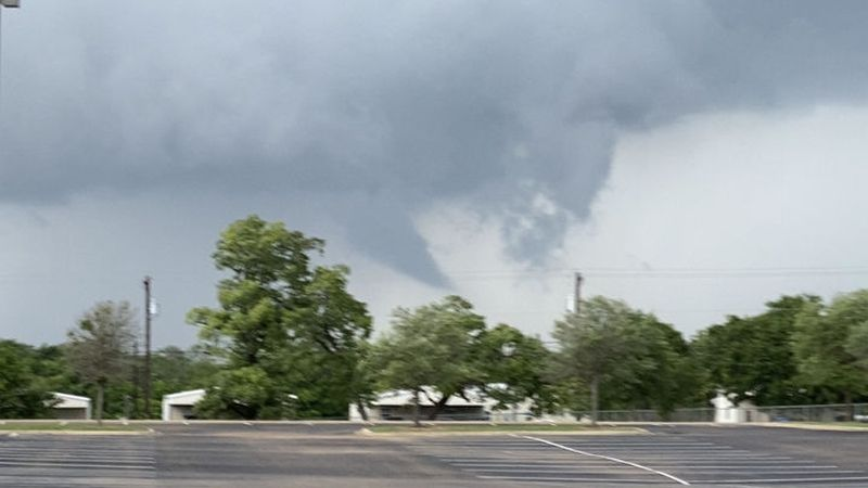 A funnel cloud was spotted near Bryan in Brazos County around 1:30 p.m.  There are no reports...