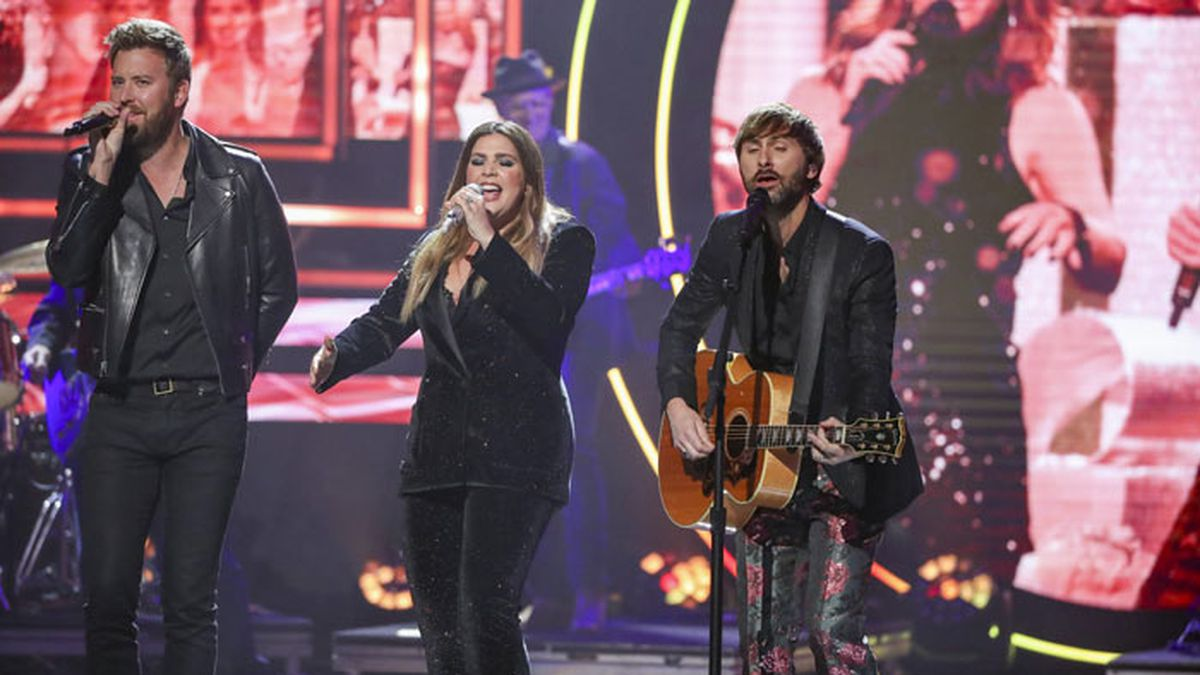 Lady Antebellum performs at 2019 CMT Artists of the Year at Schermerhorn Symphony Center on Wednesday, October 16, 2019, in Nashville, Tenn. (Photo by Al Wagner/Invision/AP)