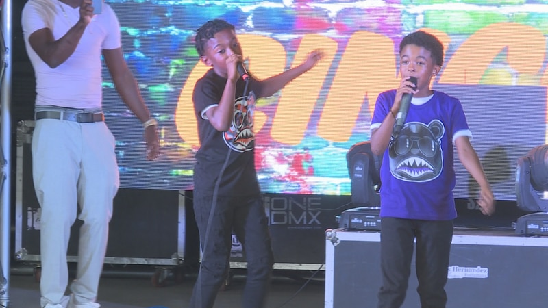 Several kids on Sunday showed off their singing, rapping and dancing skills at the Kids Talent...