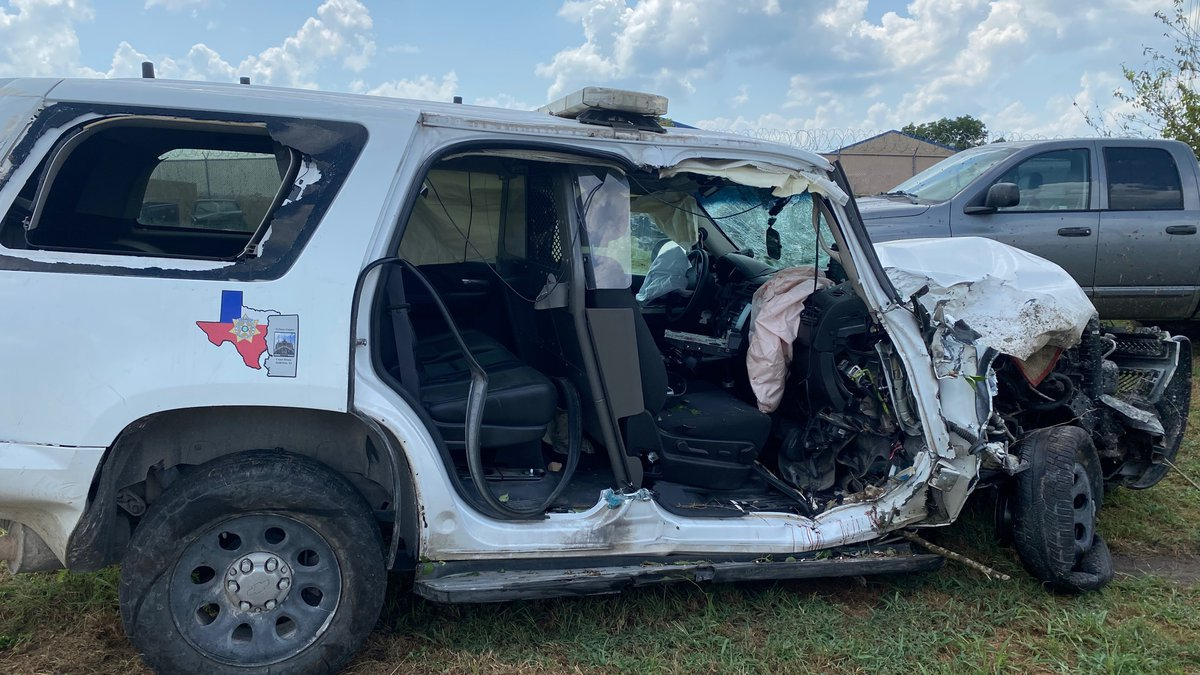 Two deputies are in stable condition after being airlifted to St. Joseph hospital following a...
