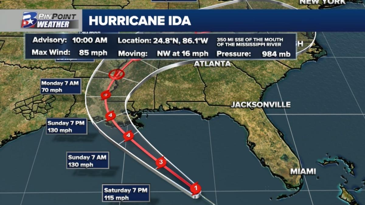 Hurricane Ida to Make Landfall With 130mph Winds and 160mph Gusts