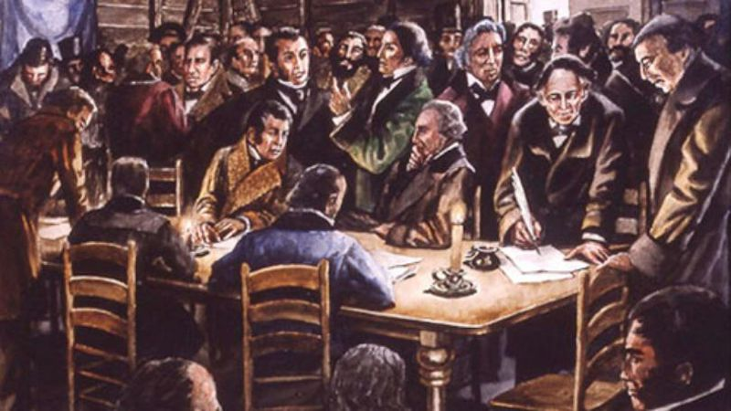 The signers of the Texas Declaration of Independence in 1836. (KWTX File Photo)