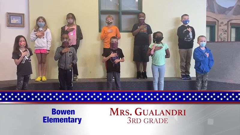 Daily Pledge - Bowen Elementary - Mrs. Gualadri's Class