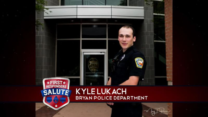 This week's First Responders Salute goes to Kyle Lukach