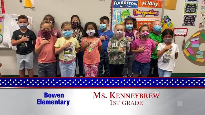 Daily Pledge - Bowen Elementary - Ms. Kennybrew's Class