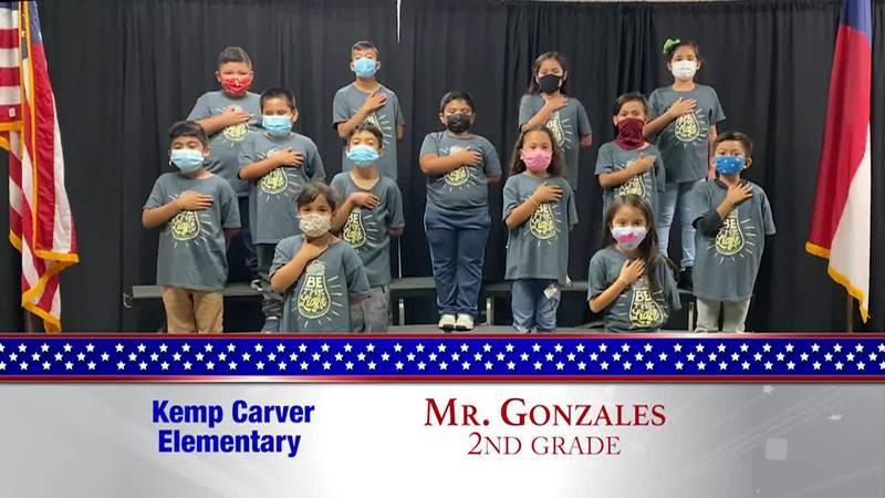 Daily Pledge – Kemp Carver Elementary – Mr. Gonzales' Class