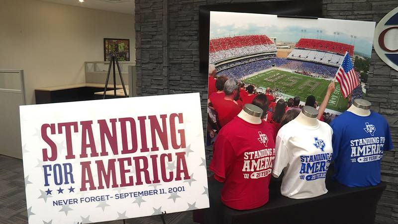 More than 100,000 shirts are being printed to make Kyle Field red, white and blue in September.