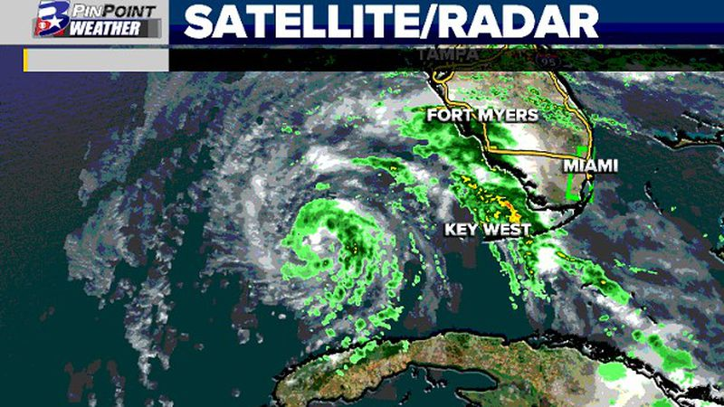 Eta has weakened and begun to move away from Florida for the time being. Some strengthening...
