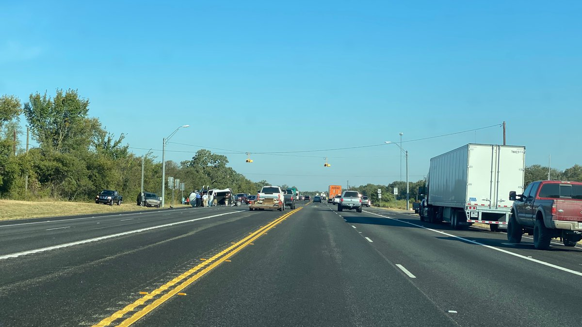 It happened just after 9:00 a.m. in the southbound lanes of the highway near FM 2549 and Sutton...