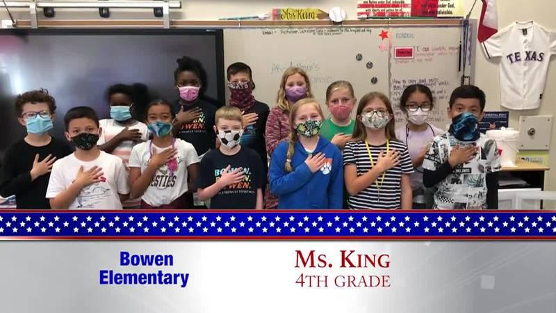 Daily Pledge - Bowen Elementary - Ms. King's Class