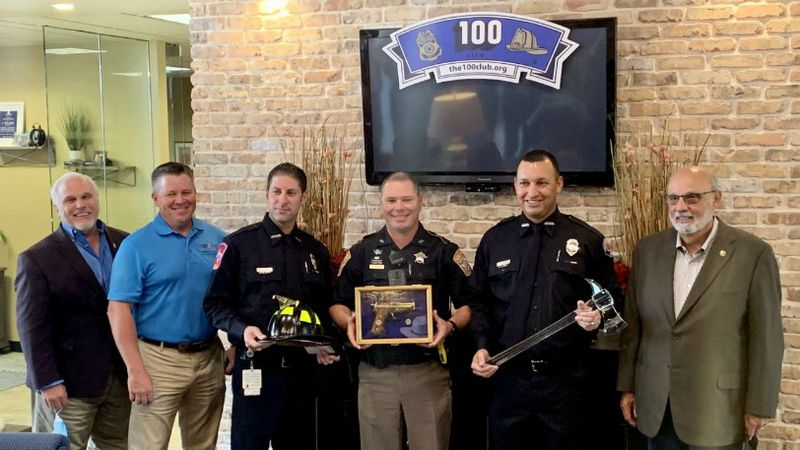 Three Brazos County first responders have been honored by the 100 Club.