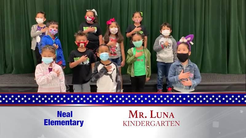 Daily Pledge – Neal Elementary – Mr. Luna's Class