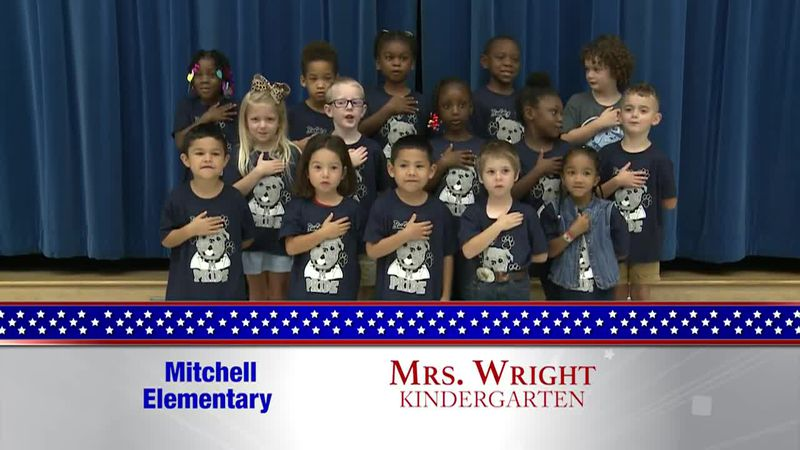 Daily Pledge - Mitchell Elementary - Mrs. Wright's Class