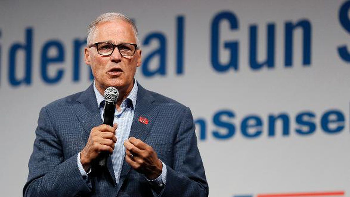Washington Gov. Jay Inslee announced Wednesday he is dropping out of the presidential race. (AP Photo/Charlie Neibergall)