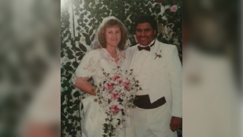 Victoria and Jesse Contreras on their wedding day 35 years ago.