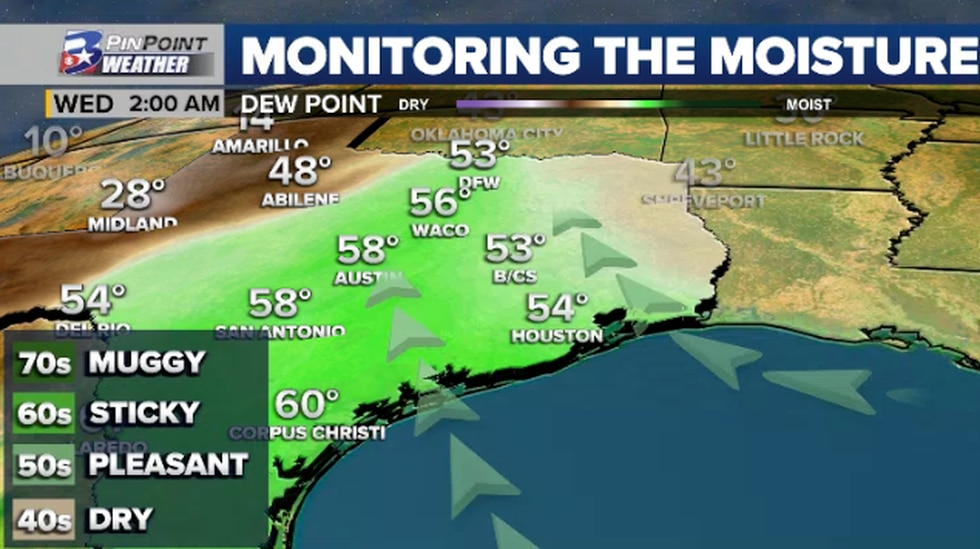 As a high pressure system moves off to the east, a southeasterly breeze returns Tuesday and...