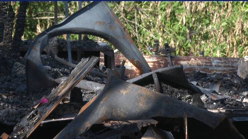 The ashes are all that remains at a Gause home that was burned down last week.