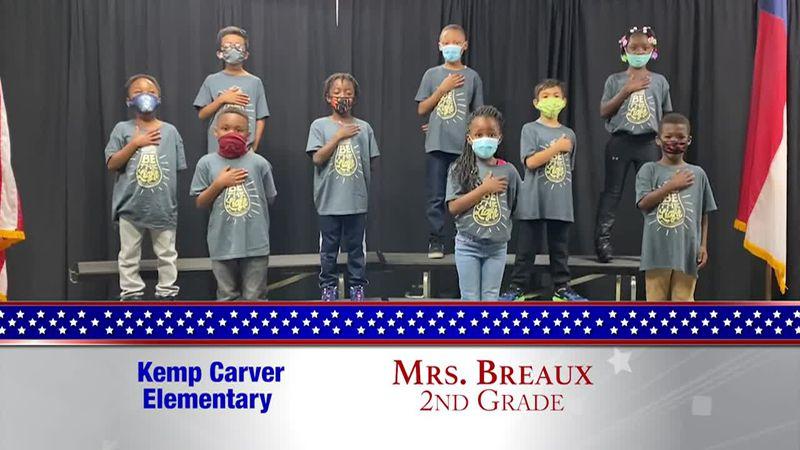 Daily Pledge - Kemp Carver Elementary - Mrs. Breaux's Class