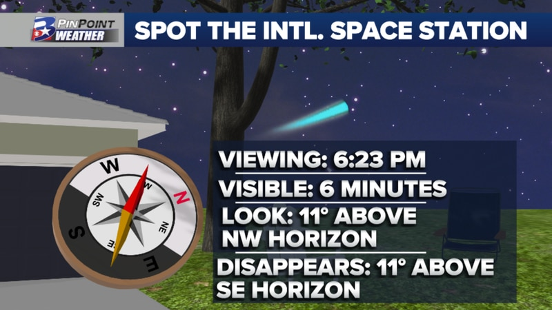 If you missed it Tuesday, there's another chance to spot the ISS Wednesday night!