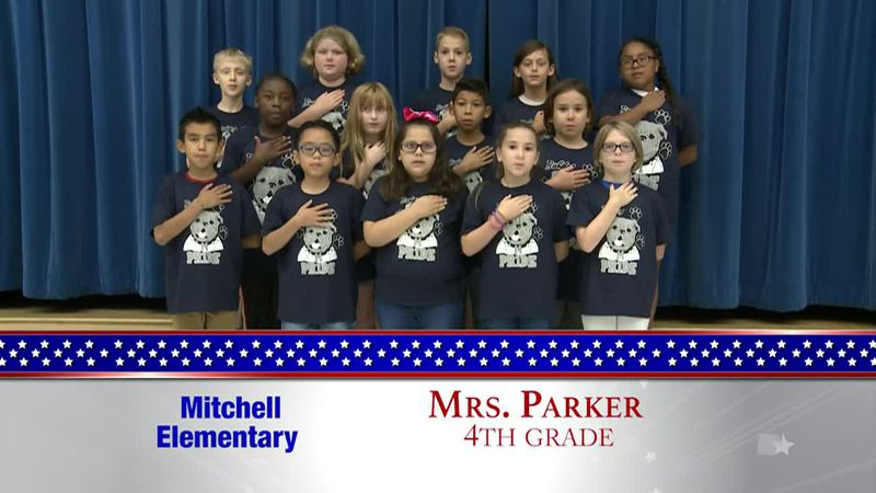 Daily Pledge - Mitchell Elementary - Mrs. Parker's Class