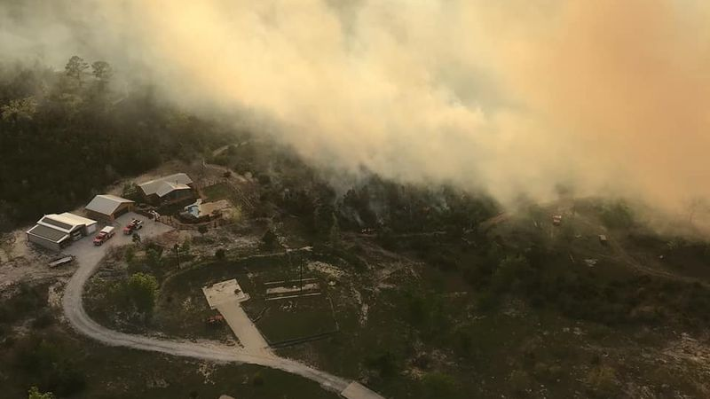 wildfire in Bastrop County
