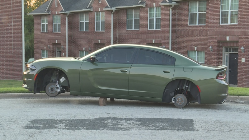 This is one of the five cars from the same neighborhood police say thieves hit to steal the...