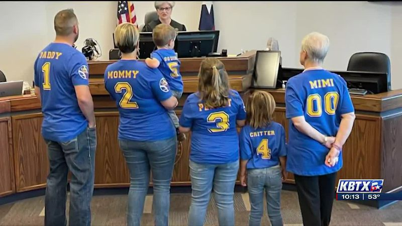 Family celebrates adoption of young child, shining light on need for foster parents in the...