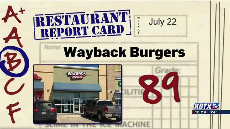 Restaurant Report Card- July 22, 2021