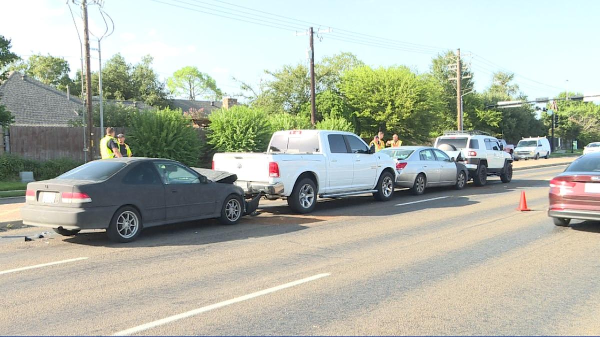 Four car crash Briarcrest Drive