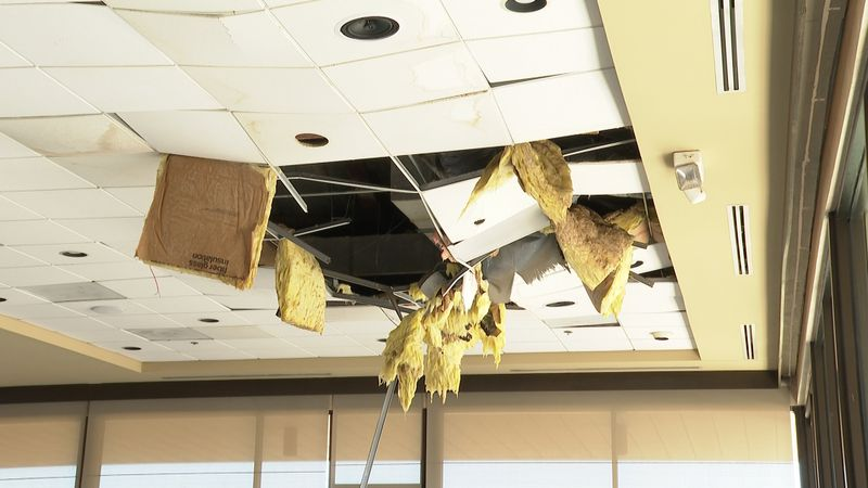 The Philips Event Center at Briarcrest suffered significant damage after severe weather.