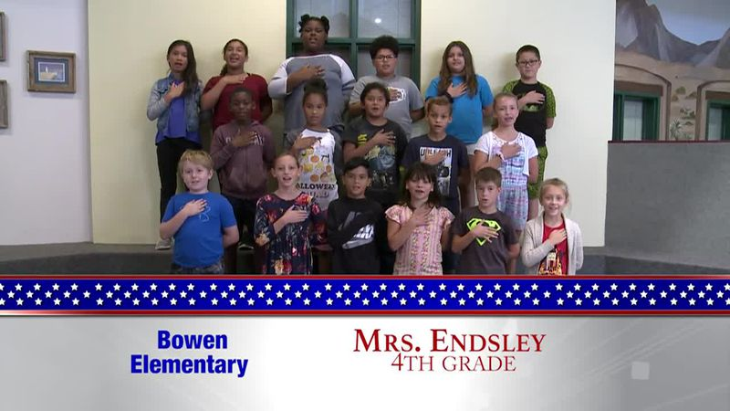 Daily Pledge - Bowen Elementary - Mrs. Endsley's Class