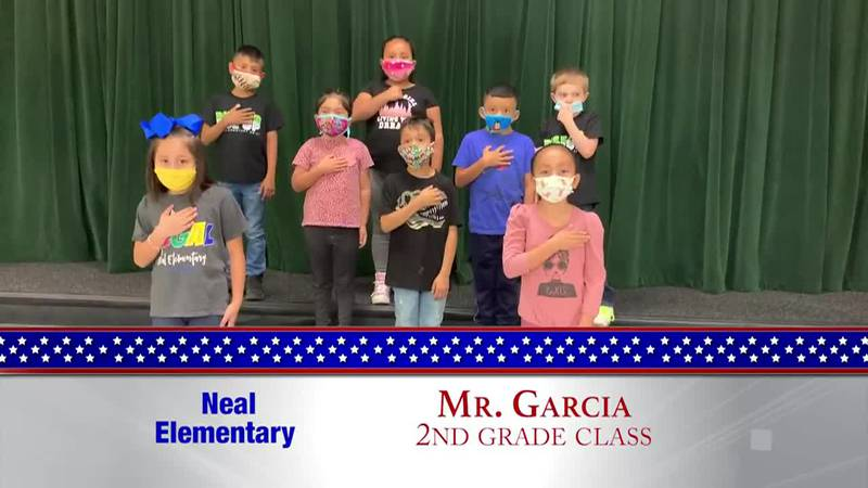 Daily Pledge - Neal Elementary - Mr. Garcia's Class