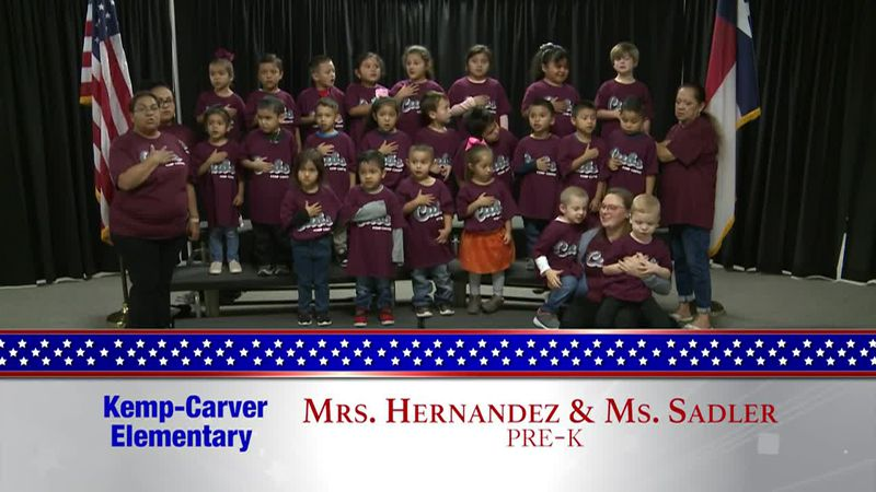 Daily Pledge - Kemp-Carver Elementary - Mrs. Hernandez's and Ms. Sadler's Class