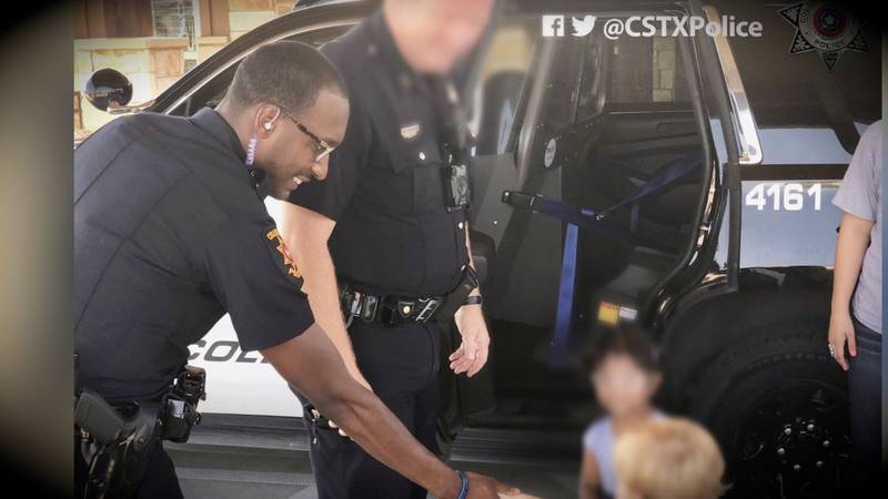 In a 2018 post on Twitter, the College Station Police Department shared several photos of...