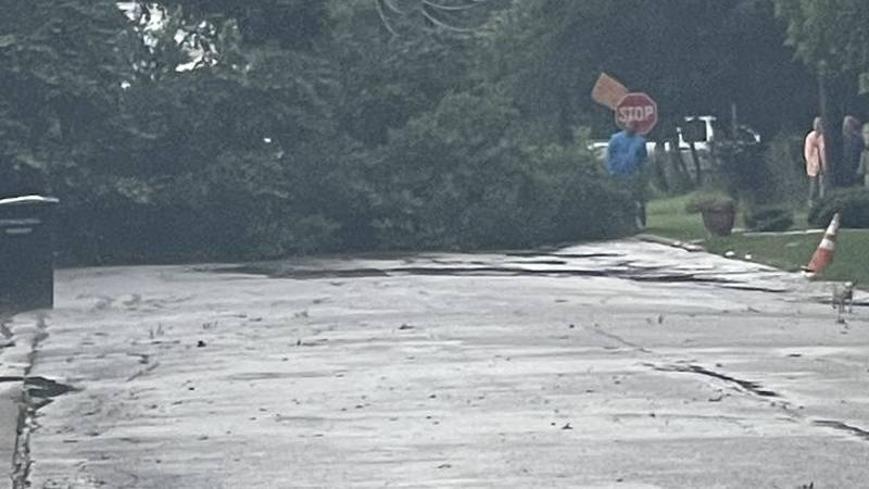 A severe thunderstorm caused minor flooding and a downed tree as it trekked across portions of...