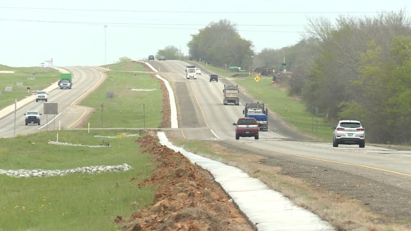 A new cable barrier system is being constructed north of Hearne heading north to the Falls...
