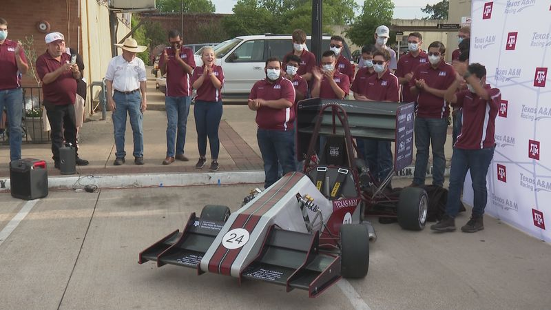 Texas A&M Formula SAE racing car