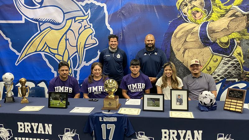 Thursday afternoon over at Bryan High School soccer standout Ramiro Moreno signed a national...